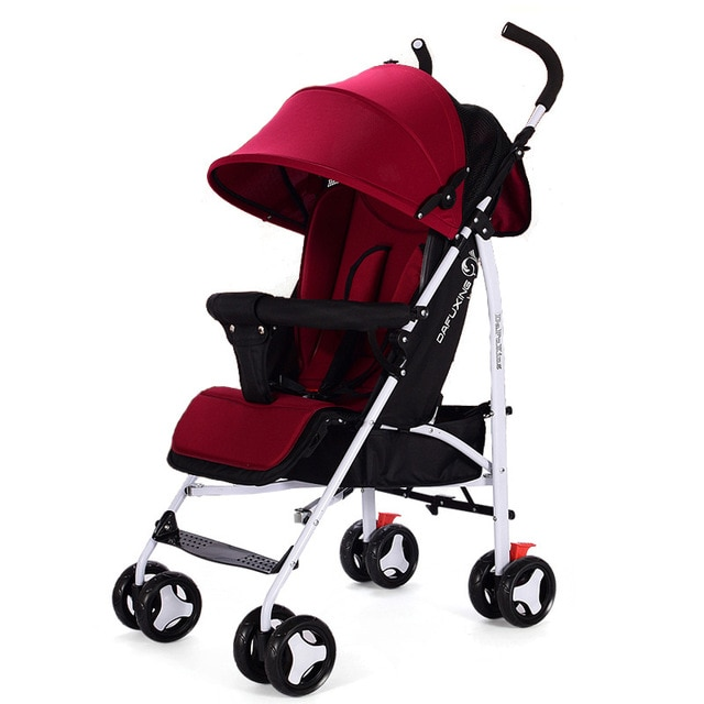 Foldable Baby Stroller Ultra-lightweight High Landscape Stroller Folding Carriage Gold Baby Stroller Newborn Stroller