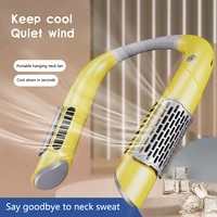 pcltsllk mini neck fan portable bladeless usb rechargeable mute sports leafless hanging fans for outdoor cooling wearable fans