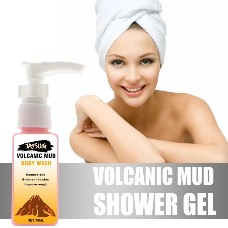 30ml Volcanic Mud Shower Gel Body Wash Whitening Deep Gel Cleansing Bathing Skin Body Shower Moisturizing Care Exfoliating Women