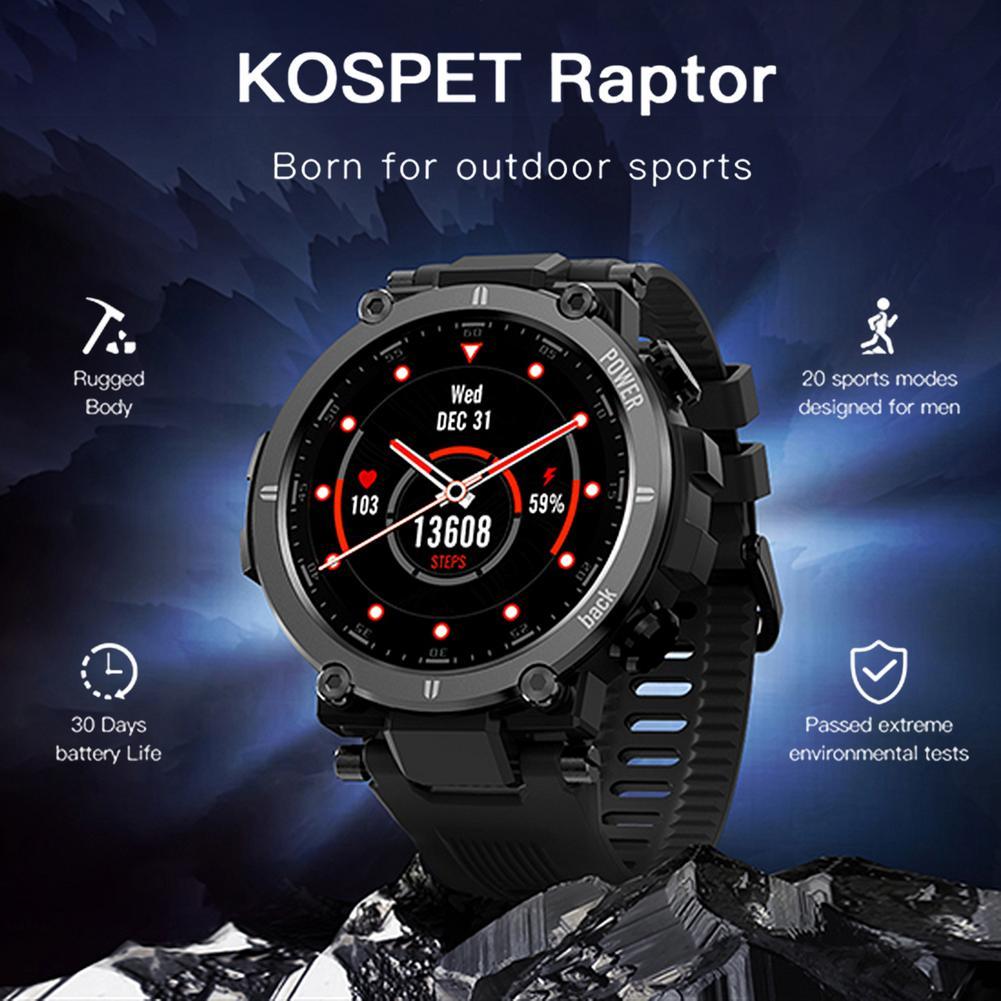 2021 KOSPET Raptor Outdoor Sport Watch Smart Watch Men Fitness Tracker IP68 Waterproof Women Smartwatch Wristwatch for Xiaomi