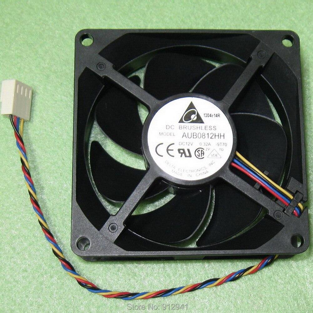 B80 Delta AUB0812HH 8025 80mm x 80mm x 25mm DC Bürstenlosen PWM Kühler Lüfter 12V 0,32 EIN 4 Draht 4Pin Stecker