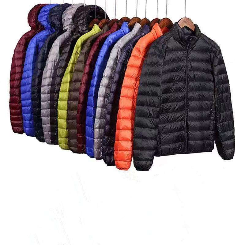 Chaqueta de algodón Eiderdown para hombre abrigo cálido de invierno para hombre grueso con capucha ultraligero Casual Parkas moda masculina chaquetas acolchadas de algodón