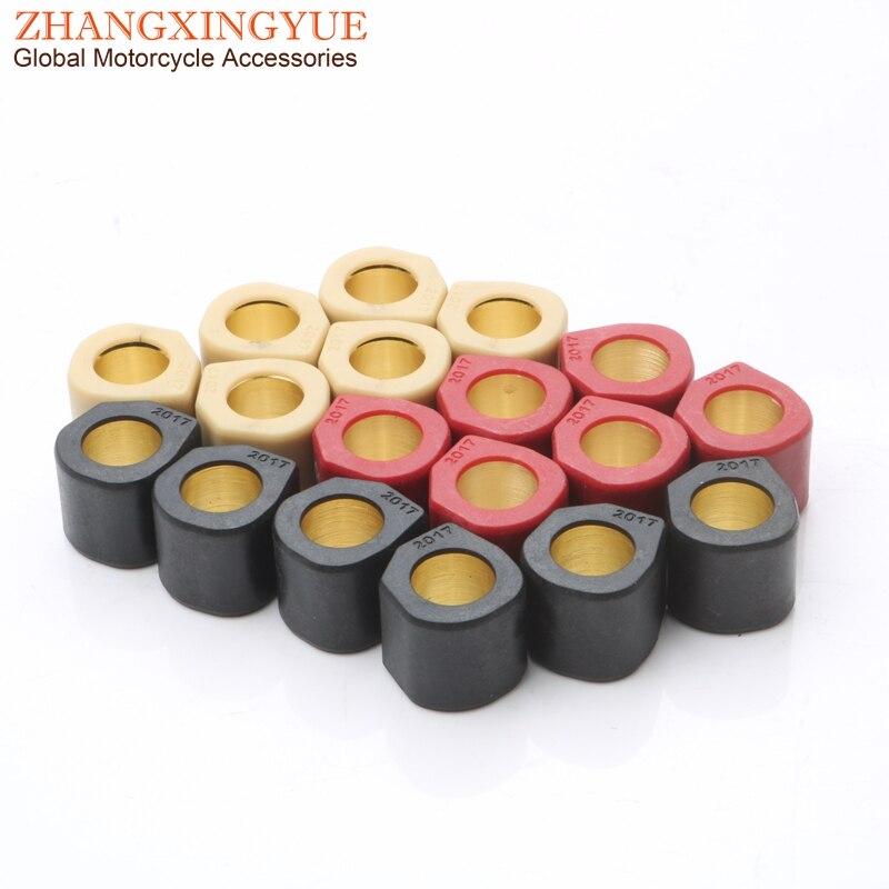 6pc rendimiento variador pesos para rodillos 9 gramos 11gram 13 gramos 20x17mm para Suzuki 16 Burgman sello Epicuro 125, 150