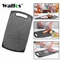 walfos plastic kitchen chopping board anti bacterial cutting board chopping block imitation marble fruit vegetable meat tools