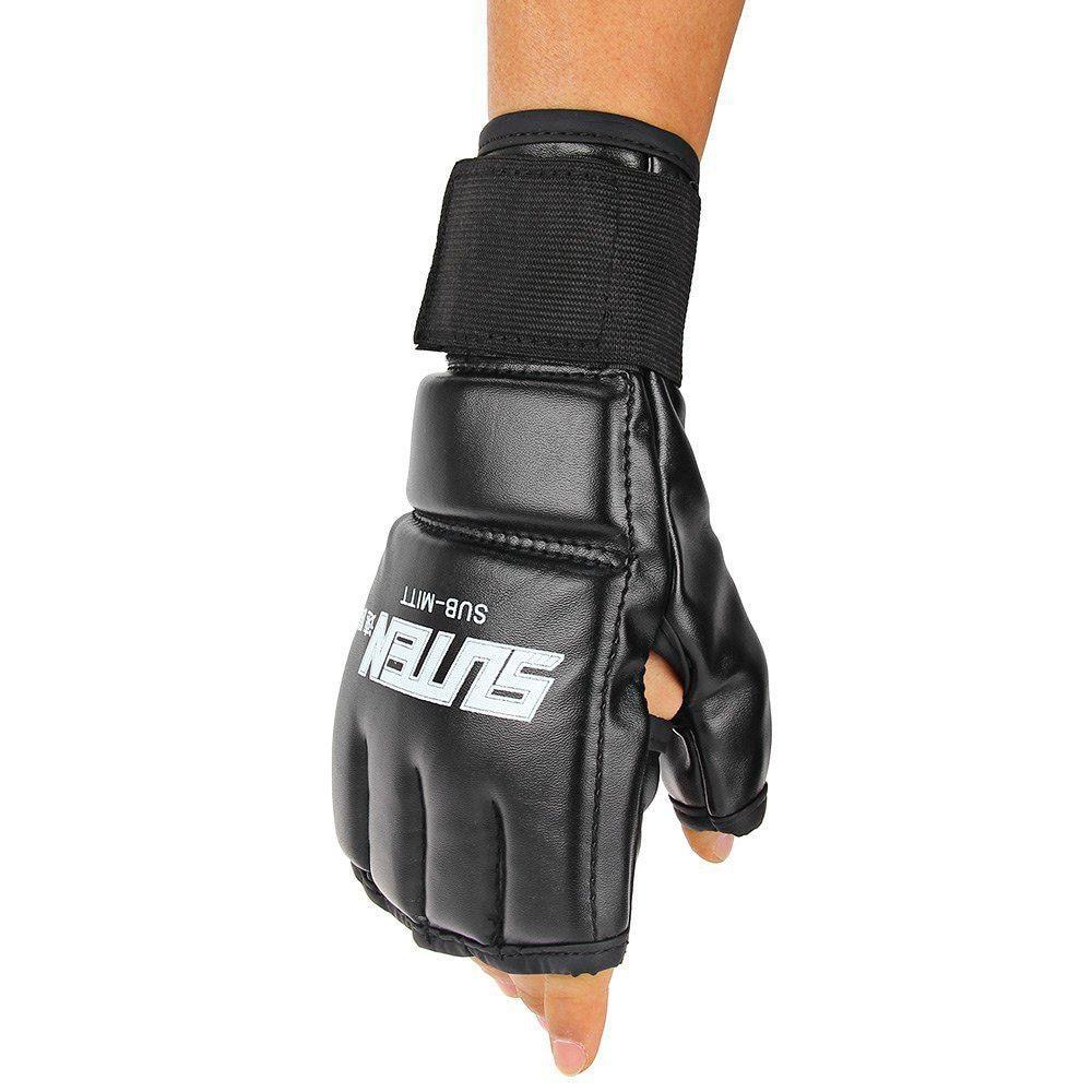 Cool MMA Muay Thai entrenamiento bolsa de boxeo medios mitones Sparring boxeo guantes Gym Relief Bounce Back bolsa de arena con bomba