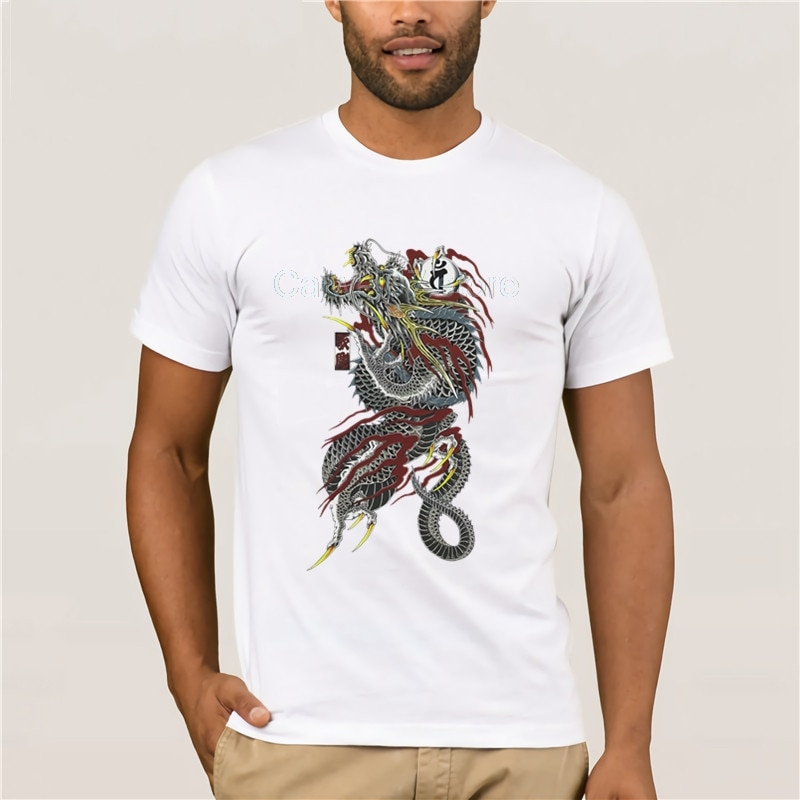 Camiseta de verano para hombre, moda de verano Yakuza, ropa para hombre, tendencia informal, ajustada, Hip-Hop, Top, cuello redondo, camiseta fresca para hombre