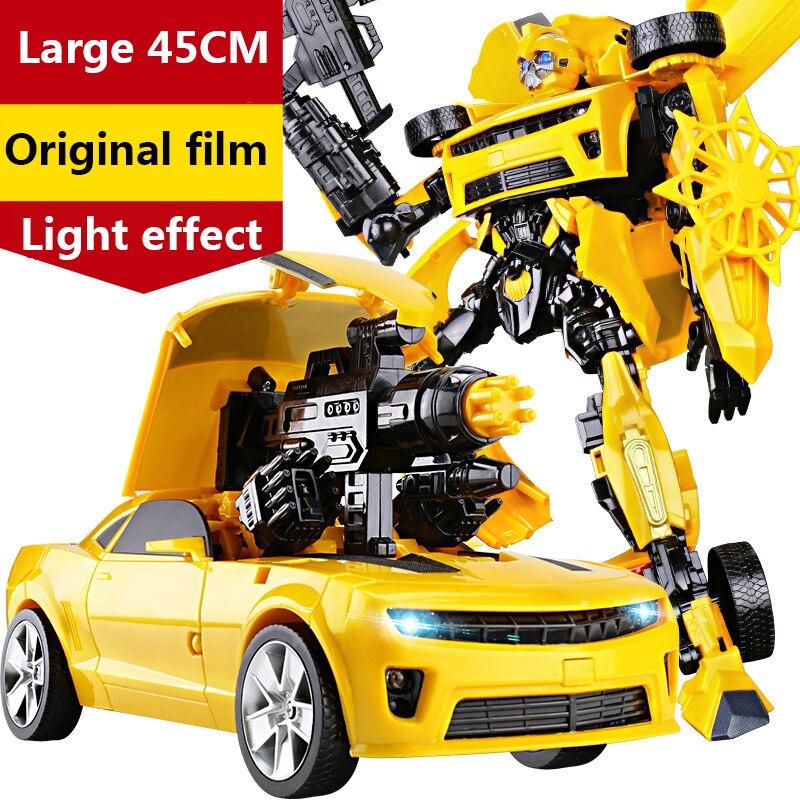 45cm transformação robôs carro brinquedos guerra hornet batalha lâminas optimus prime filme 4 edição modelo presentes clássicos menino brinquedos