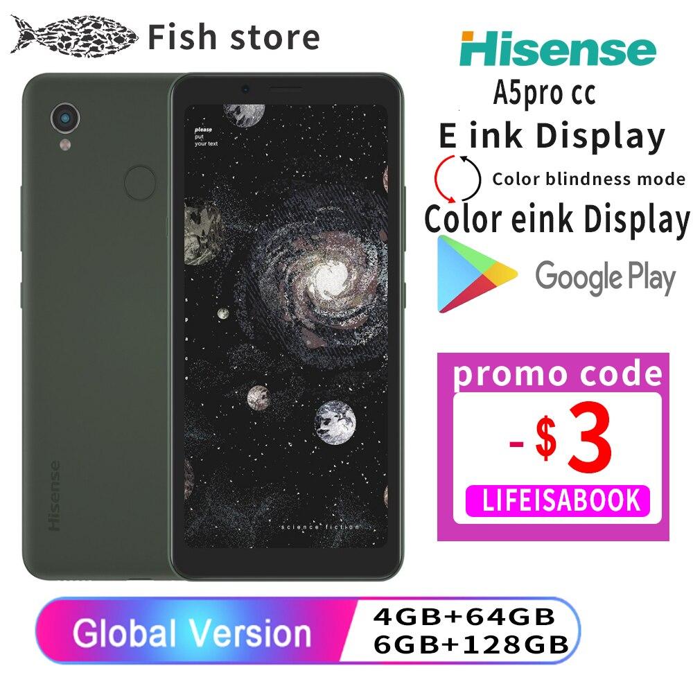 Перейти на Алиэкспресс и купить Hisense A5 A5PRO CC Snapdragon 439 Android 9,0 смарт-телефон Google Play 5,84 дюймчернила для путешествий 4 Гб 6 ГБ 64 Гб 128 636 полный Экран