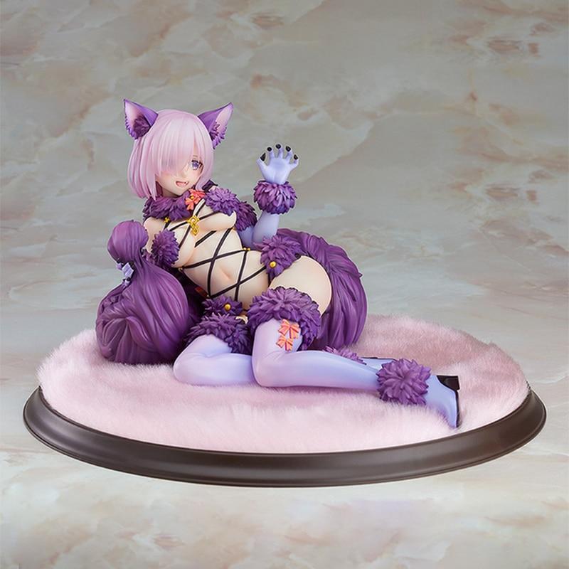 Nueva figura Sexy de Fate Japan para chicas, Mash Kyrielight, bestia peligrosa, figura de acción de PVC, figura de Anime de 12cm, modelo de colección, muñeca de regalo