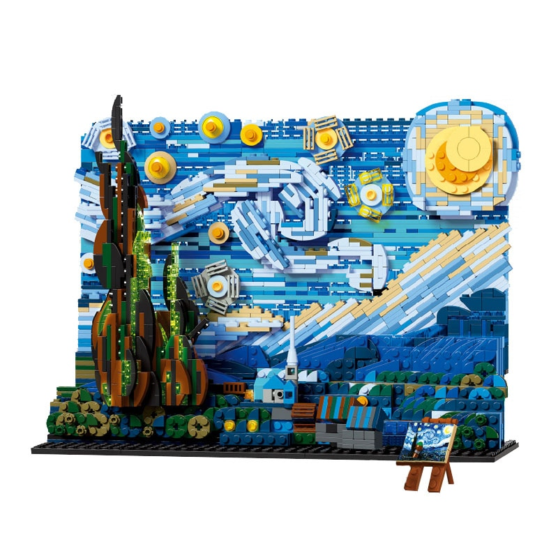 183Creative Series Famous Paintings Simulation Model Children's Educational Building Blocks Assembly Toys For Adults  - buy with discount