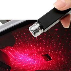 Светодиодная Автомобильная крыша звезда подключи и играй в машину и домашний потолок Романтический USB ночник звездное небо красный фиолетовый Декор лампа Регулируемый эффект