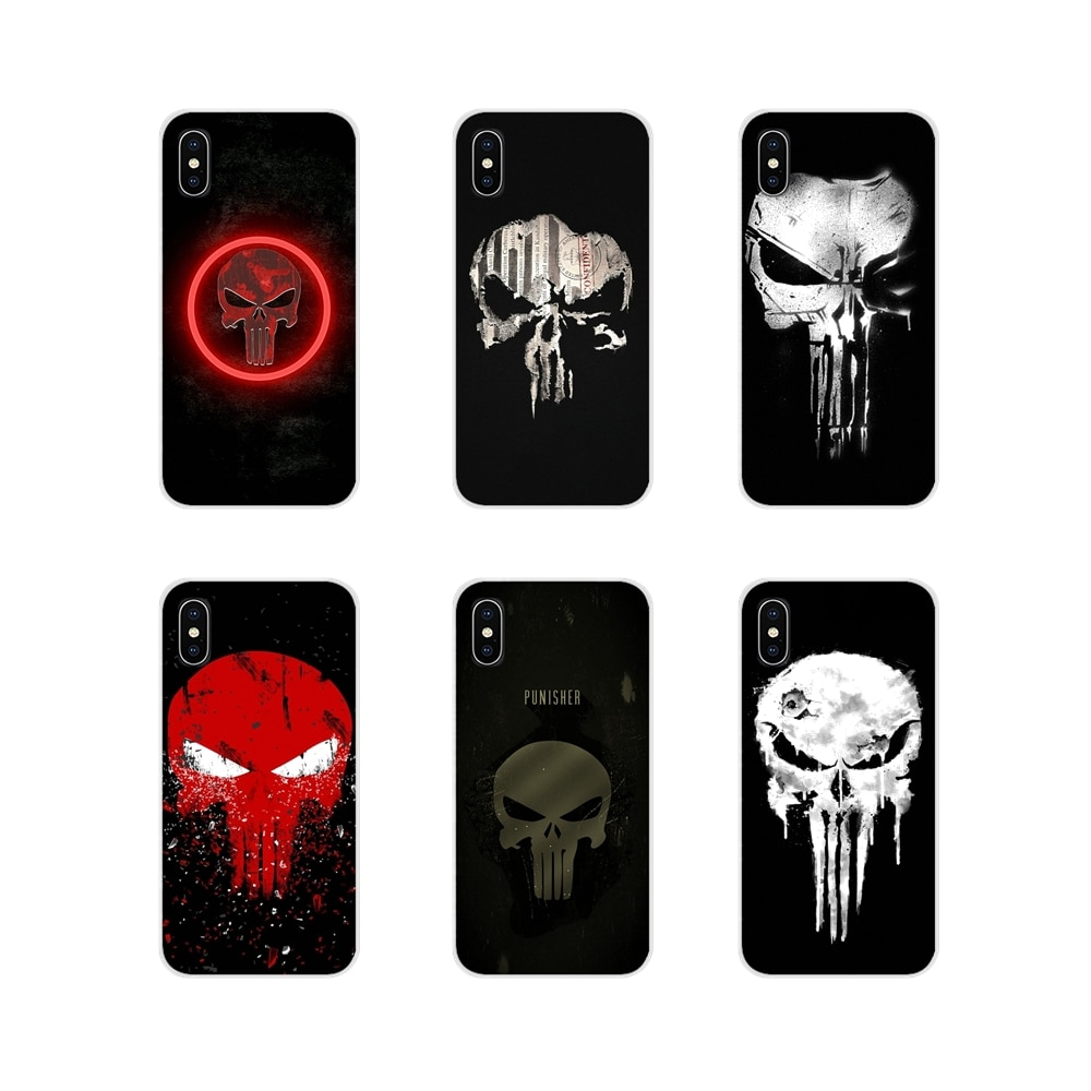 Comic The Punisher-funda de Metal para Huawei Y5, Y6, Y7, Y9, Prime...