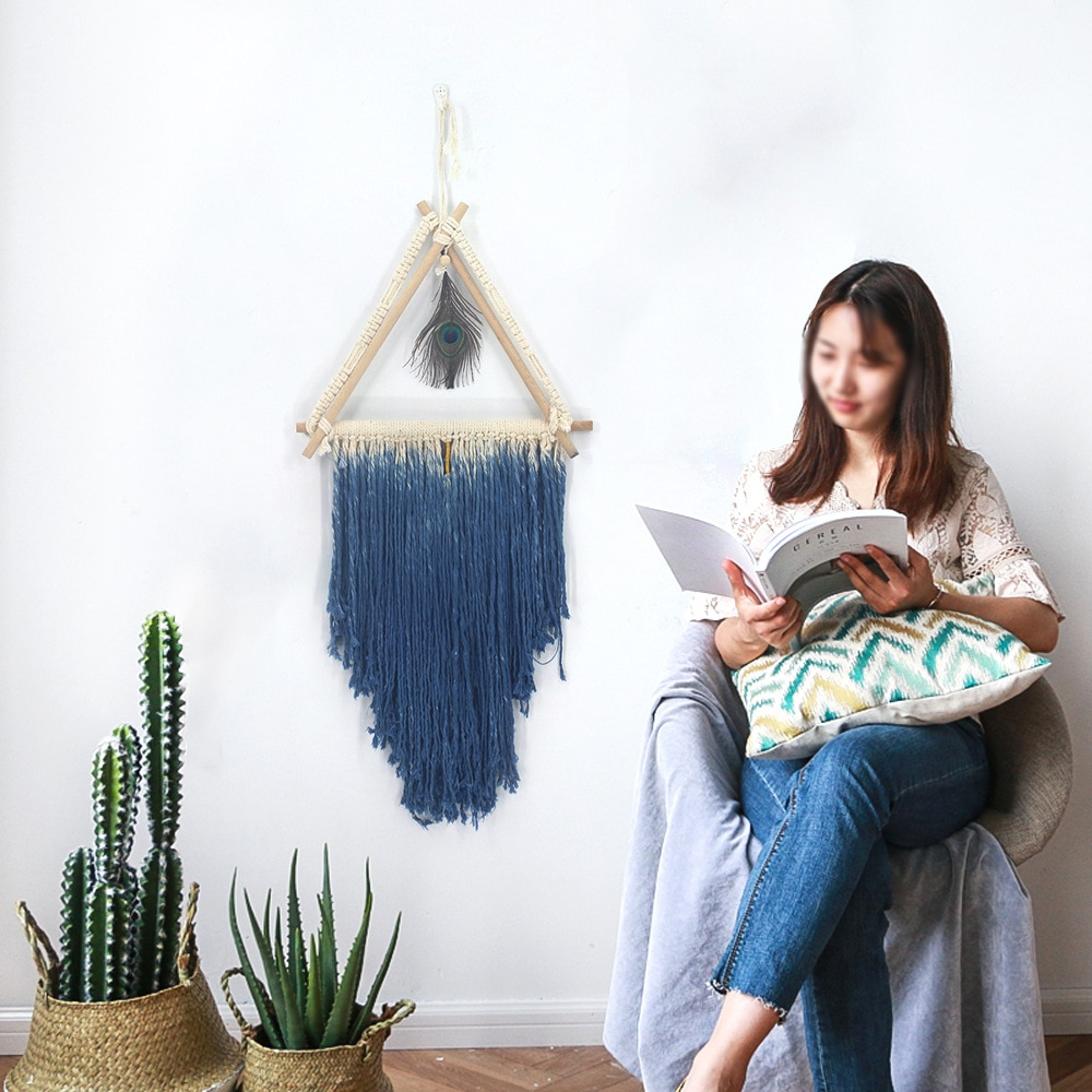 New Macrame Wall Hanging Tapestry Hand Woven Geometric Art Decoration House Ceremony Living Room Home Furnishing Accessories