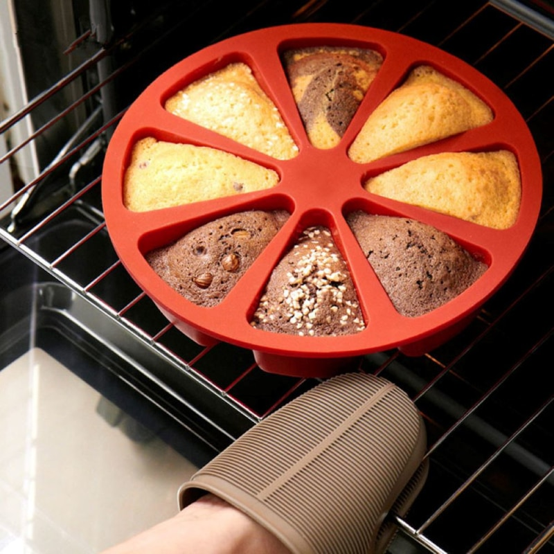 8 buracos de silicone bolo de chocolate molde diy decoração moldes cookies cozimento bandeja pizza cozinha ferramentas cozimento