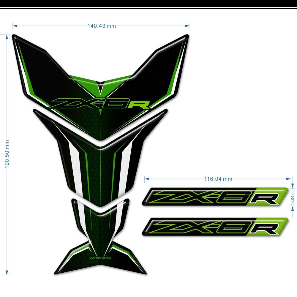 Etiqueta de protección TankPad para Kawasaki Ninja ZX-6R ZX6R ZX 6R pegatinas tanque almohadilla carenado Gas rodilla calcomanía motocicleta 2019 2020