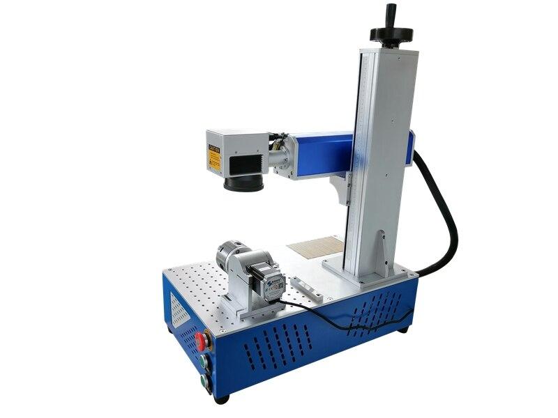 Diferença de preço PVC ABS anel nome da placa de alumínio da máquina de marcação a laser de fibra de aço inoxidável metal gravador do laser com o rotary