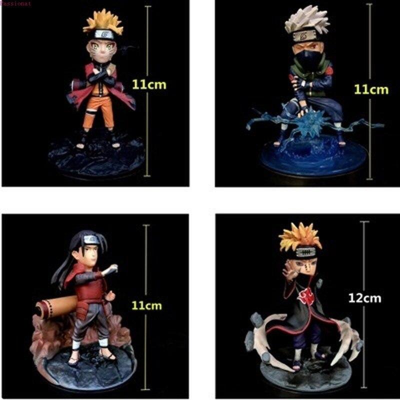 12 см Наруто Hatake Kakashi Uzumaki Naruto Senju Hashirama Nagato GK ПВХ фигурка Коллекционная модель игрушки