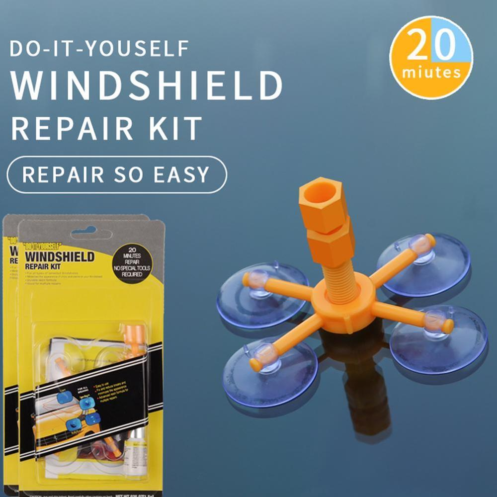 Auto Glass Scratch Crack Restore Tool Car Windshield Repair Resin Kit DIY Car Window Repair Tools Window glass Curing Glue