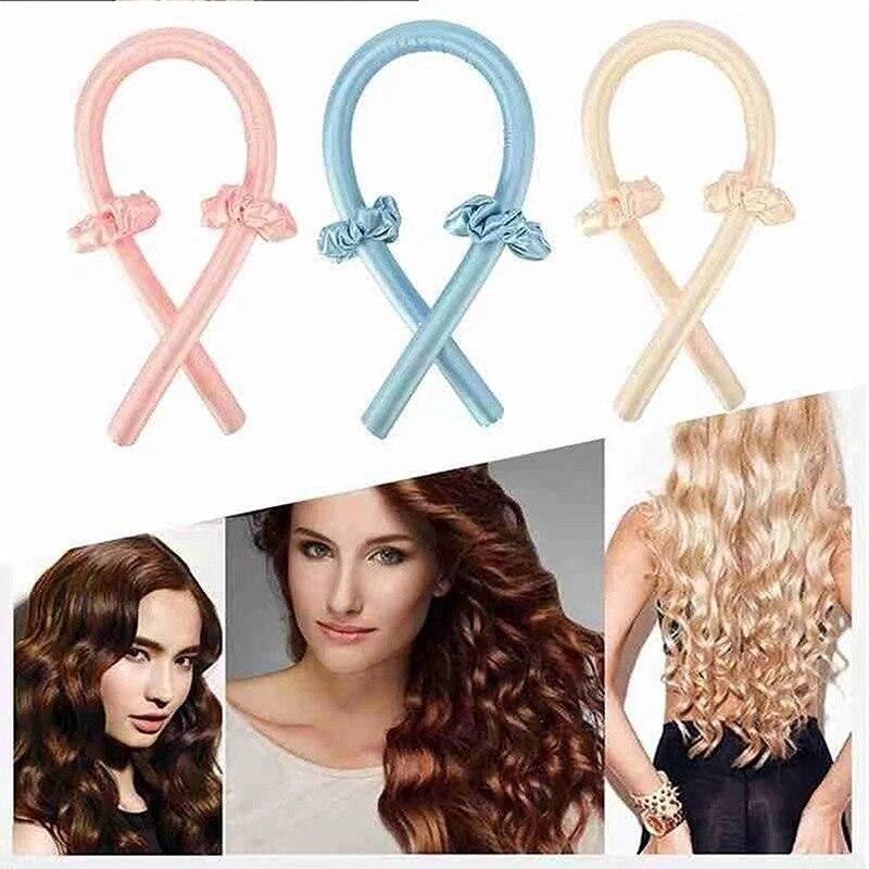 Hot Sale Heatless Curling Rod Headband No Heat Curls Ribbon Hair Roller Sleeping Soft Headband Hair