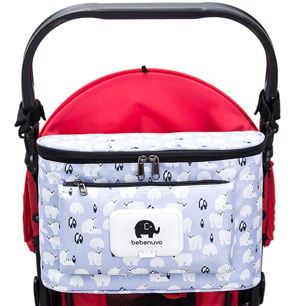 Diaper bag Cartoon Baby Stroller Bag Organizer Bag Nappy Diaper Bags Carriage Buggy Pram Cart Basket Hook Stroller Accessories