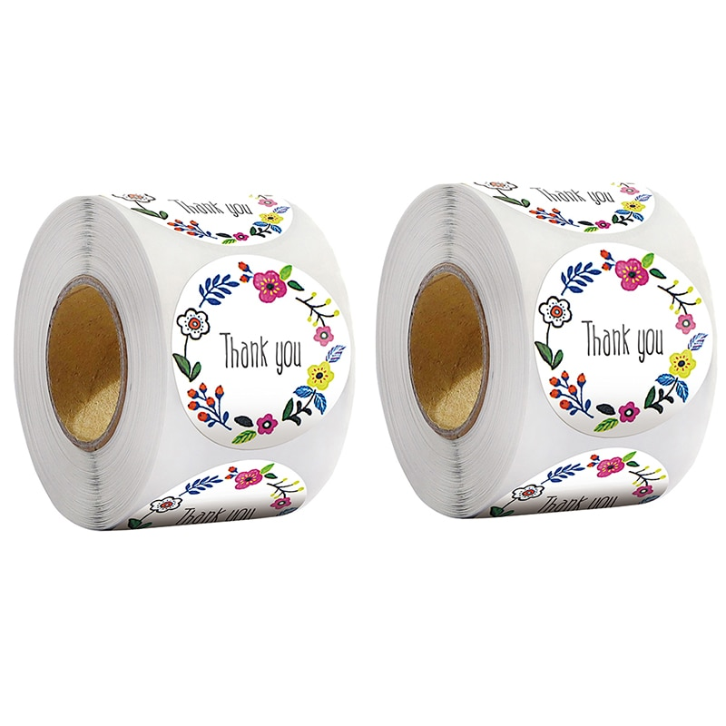 500pcs/roll Thank You Stickers Wedding Party Favor Stationery Stickers DIY Festival Decorations  - buy with discount