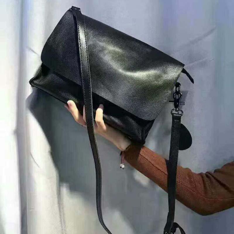 حقيبة كتف نسائية من جلد الغنم فائقة النعومة ، حقيبة حمل للدراجات النارية ، حقائب كبيرة غير رسمية بمقبض علوي