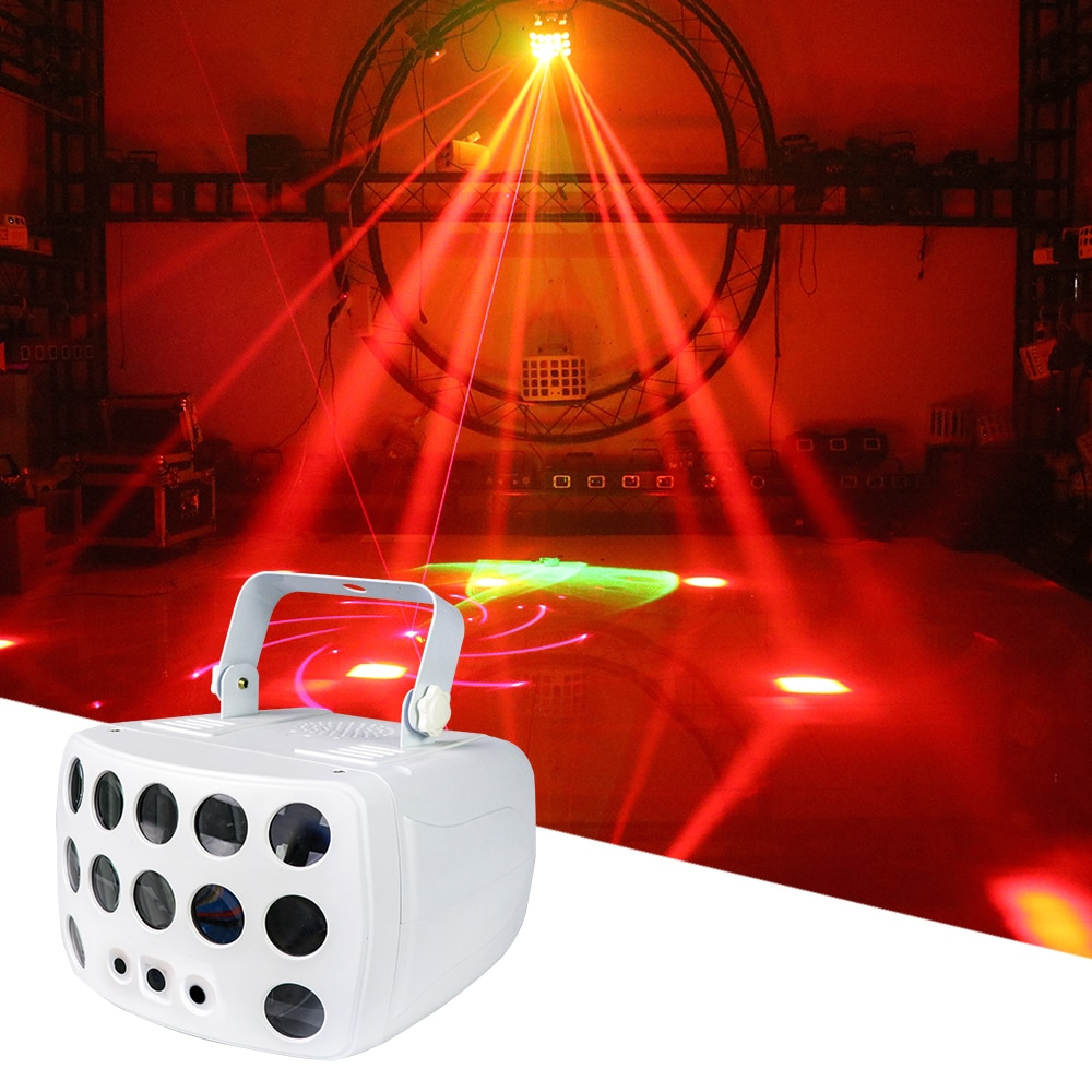 RGBW LED Patterns Laser Aurora 3in1 Butterfly Light Stage Full Color Aurora Effect Laser Projector For led Music Party DJ Disco