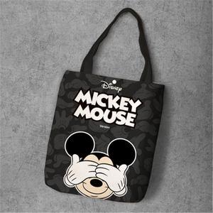 Модная Холщовая Сумка для покупок, с рисунком Микки Мауса и Минни
