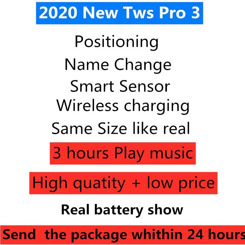 Nuevos Pro TWS auriculares inalámbricos Bluetooth sin cortes 11 tws 3 auriculares 10D Supergraves PK i99999 Plus i900000 Pro i9000 tws