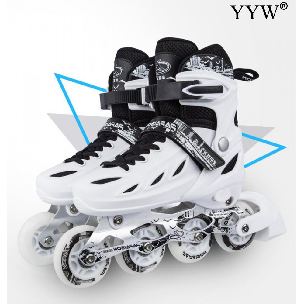 أحذية تزلج على الطرق مع شفرات قابلة للتعديل للأولاد والبنات ، وأحذية تزلج ، وأحذية هوكي للمراهقين ، والتزلج على الطرق ، 3 خيارات