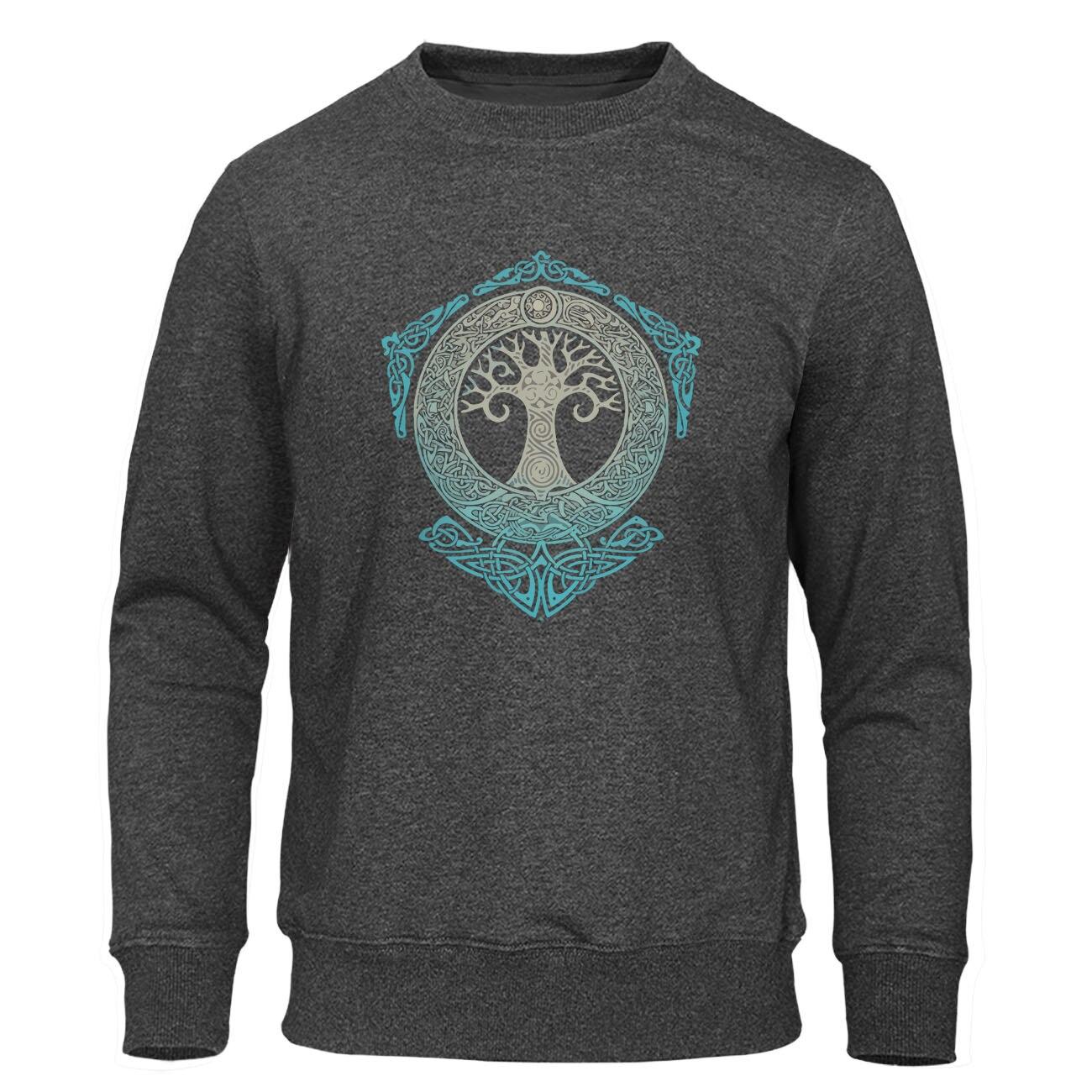 Yggdrasil Pullover Welt Baum Männer Warme Streetwear 2019 Winter Herbst Fleece Hoodies Odin Aesir Nordic Mythologie männer Sweatshirt