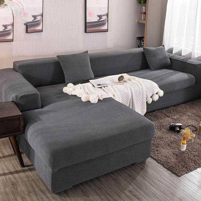 بلون أريكة غطاء L على شكل أريكة غطاء شامل أريكة منشفة الوسخ مقاومة غطاء أريكة حماية مرونة أريكة منشفة