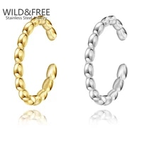 wild free classic stainless steel rings gold plate ring simple style unisex party jewelry adjustable open ring gift for friend
