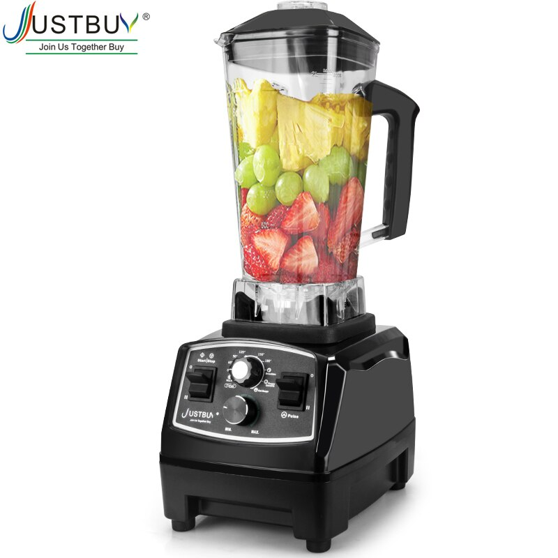 2200W Timer BPA Free Blender Mixer  Ice Crusher Smoothies Food Processor  Fruit Juicer
