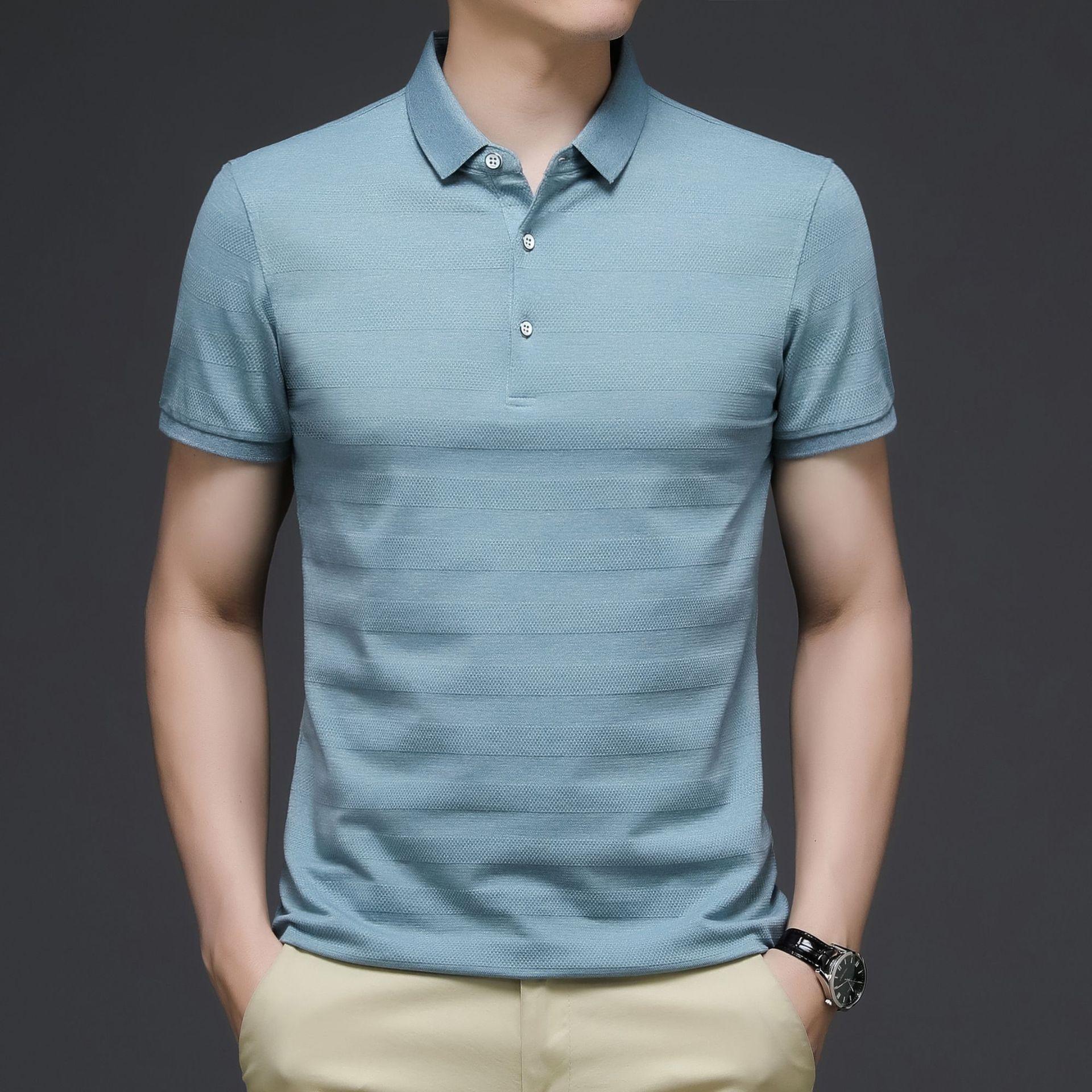 Летняя мужская одежда, мужские рубашки поло, деловые повседневные рубашки поло, рубашки поло с коротким рукавом