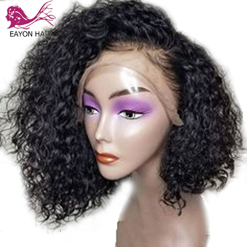 EAYON-شعر مستعار برازيلي مجعد 180% ، شعر طبيعي ، قصير ، مجعد ، فروة رأس الطفل ، شعر ريمي