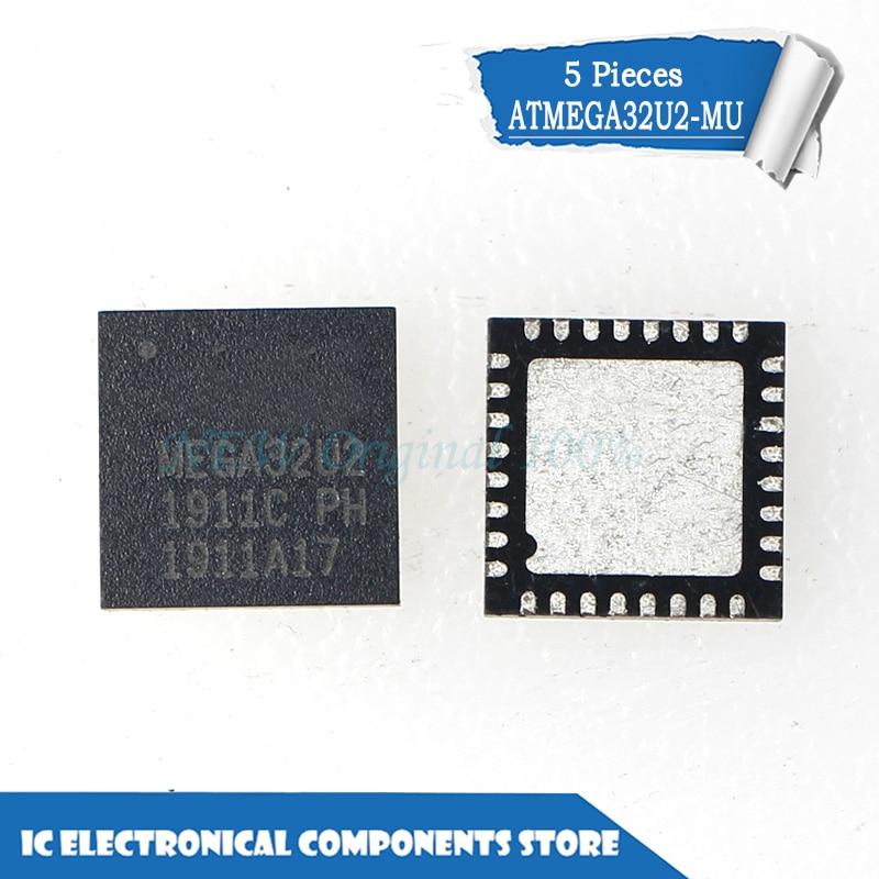 New original ATMEGA32U2-MU MEGA32U2-MU MEGA32U2 QFN-32 IC 5 pçs/lote