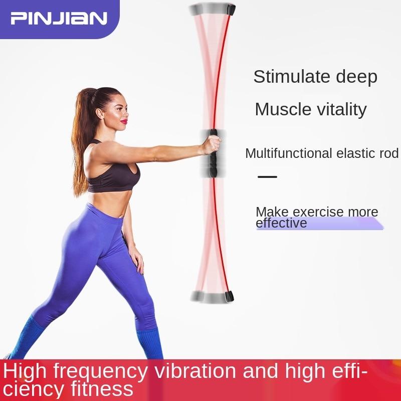 Multi-Function Training Stick Fitness Exercise Elastic Stick Vibrating Rod Phyllis Tremble Yoga Wand