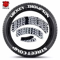 car tire decor stickers car tuning universal 3d permanent pvc joined letter decals tire lettering kit for mickey thompson
