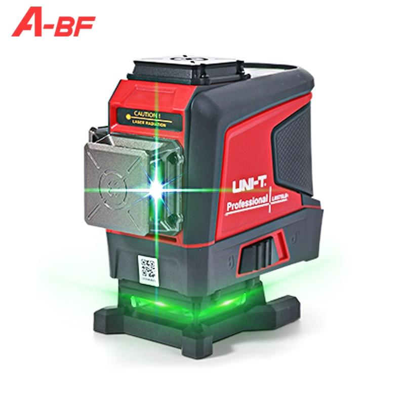A-BF المهنية الأخضر مستوى خط الليزر 12 خطوط ثلاثية الأبعاد الأفقي الرأسي الذاتي التسوية مستوى الليزر 360 في الهواء الطلق التحكم عن بعد