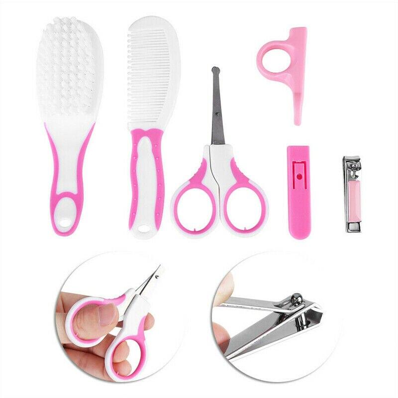 6Pcs Babies Nail Hair Manicure Brush Kids Grooming Kit Accesorries Newborn Baby Healthcare Kits Moth