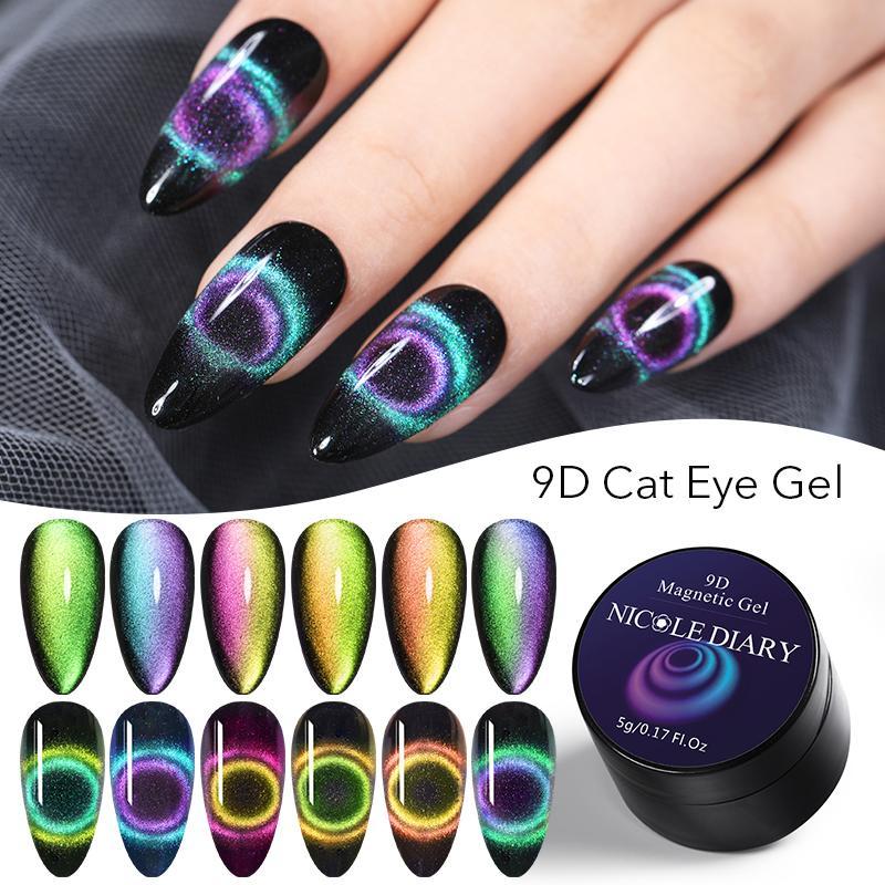 NEE JOLIE-esmalte de uñas en Gel UV 9D, imán de ojo de gato para decoración de uñas artísticas, Gel Barniz UV para decoración de uñas