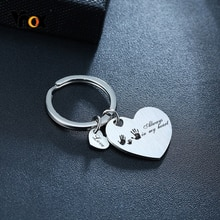 Vnox مخصص نقش المقاوم للصدأ ميدالية مفاتيح استانلس ستيل سلاسل ل تذكارية الأسرة الحب هدايا شخصية خاصة تاريخ مجوهرات