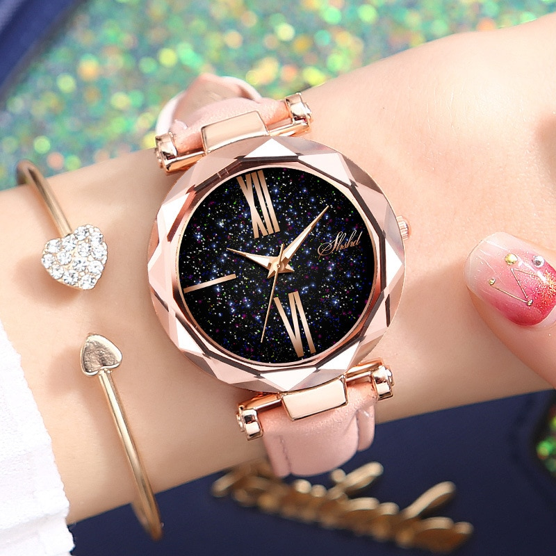 WOKAI Fashionable casual women's watch watches sky the stars watches female students trend strap wat
