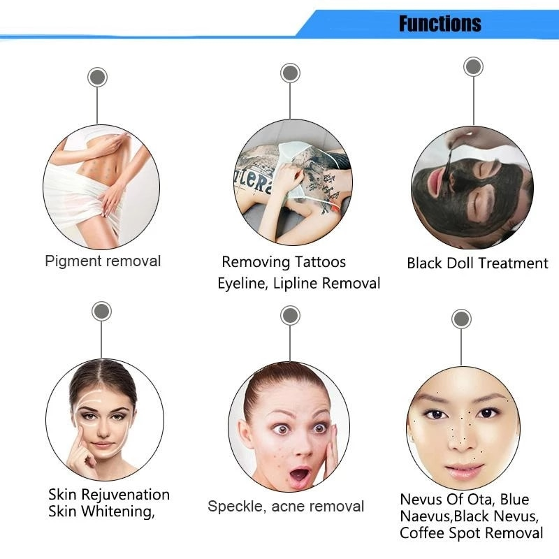 Купить с кэшбэком 2021 Latest ND YAG Laser Picosecond Beauty Equipment For Tattoo Removal Pigment Removal CE 755 1064 532nm With CE