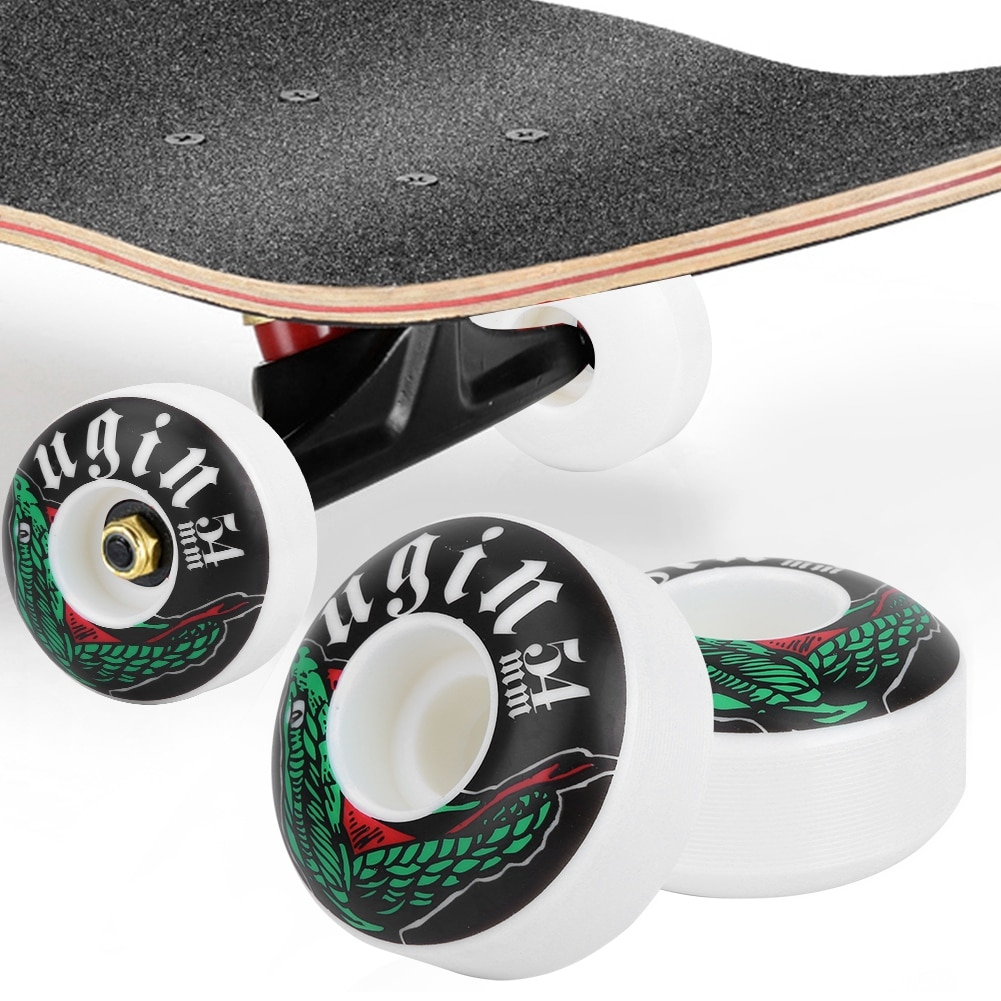 4 Uds ruedas de Skateboard para Ollie Punk y Jumping 54*32MM dureza Skateboard ruedas de Skate Longboard