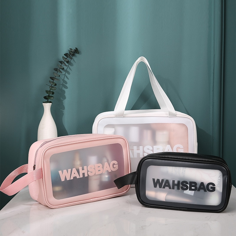 Makeup Bag Case PVC Cosmetic Handbag Make Up Travel Small Zipper Bag Cosmetic Organizer Box Makeup Bags Wholesale Wash Clear Bag hanging travel cosmetic bag women zipper make up bags oxford high capacity makeup case handbag organizer storage wash bag