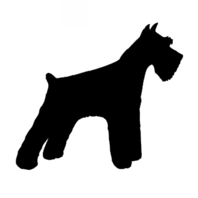 Pegatina de coche Schnauzer perro de dibujos animados pegatina de coche cubierta de coche rasguño pegatina decorativa apliques Accesorios negro/blanco, 13cm * 13cm
