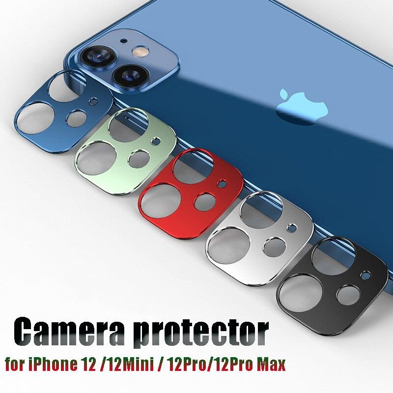 אולטרה דק מתכת מצלמה עדשת מגיני IPhone 12 מיני Pro מקסימום מצלמה מקרה עבור iPhone12 סדרת מגן מכסה