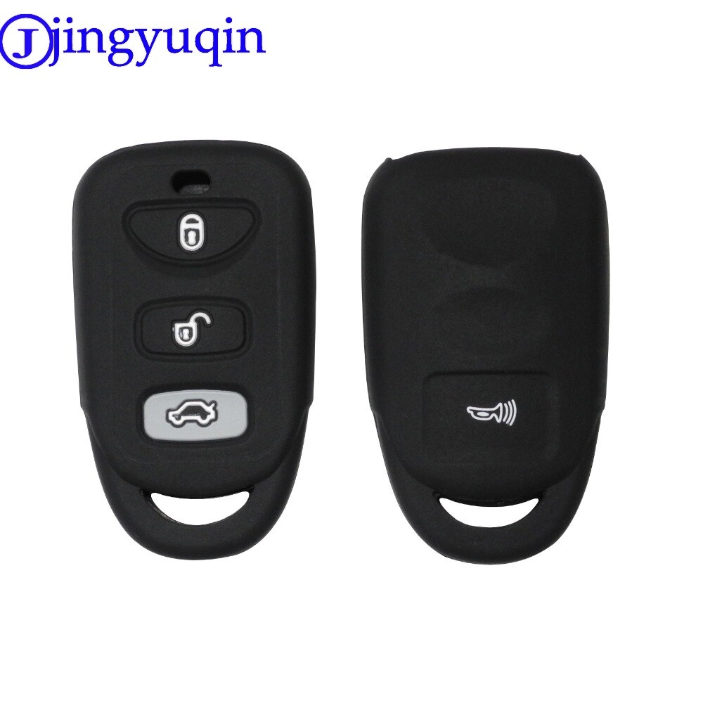 Силиконовый чехол jingyuqin для HYUNDAI KIA Tuscon Elantra Rio Sportage Rondo Accent Smart Remote 4 кнопки чехол для ключей Fob 4B